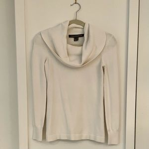 Cream White Cowl Neck Long Sleeve Sweater Small